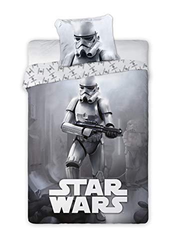 Disney Star Wars 019 - Juego de cama (140 x 200 cm y funda de almohada de 70 x 90 cm), diseño de Star Wars