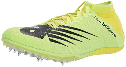 New Balance Men's Short Distance 100 V3 Spike Running Shoe, Sulphur Yellow/Black, 12 M US