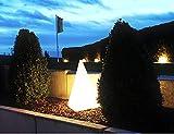 Trango 7231-60B LED Gartenleuchte IP65 Außenlampe, Leucht-Figur Pyramide 64cm weiß inkl. 5 Meter Zuleitungskabel inkl. LED Leuchtmittel Wegbeleuchtung, Außenleuchte, Gartenlampe