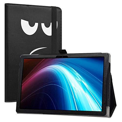 LiuShan Compatible con TECLAST P20HD / Winnovo P20 Funda, Folio Soporte PU Cuero con Funda Caso para 10.1' Dragon Touch Notepad 102 /Blackview Tab8 /AOYODKG A39 Tablet,Don't Touch