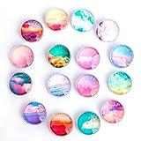 Cosylove 16 imanes de cristal para nevera, imanes creativos para nevera, decoración del hogar, pegatinas magnéticas para oficina, imanes para pizarras secas, armarios, pizarras blancas, fotos, notas