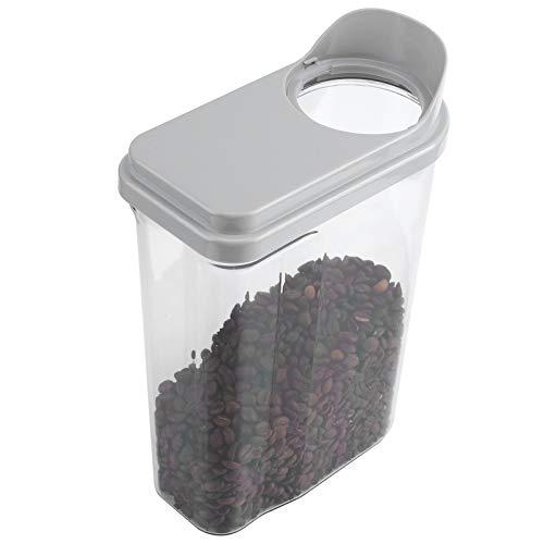 Caja De Almacenamiento De Alimentos Sellados, 2.5L Eleva A Prueba De Agua Almacenamiento De Grano De Almacenamiento Tarro Transparente Cereal DispenserGray