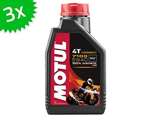 3 X 1 litro Olio Motore Motul 4T 5W40 7100 3 Litri 4 Tempi Olio Olio Olio per Moto