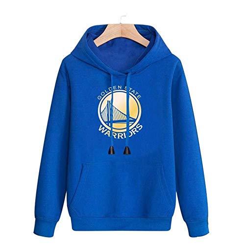 LLSDLS Sudadera con Capucha de la NBA Sudadera de Manga Larga for Hombre Golden State Warriors Baloncesto Ropa Deportiva Camiseta Casual cómoda Camiseta (Color : Blue, Size : L)
