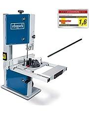 Scheppach HBS261 Lintzaag, Met 2E Zaagblad (2 Snelheden, 500 W, Doorlaathoogte 120 mm, Snijsnelheden 660/960 Min, Tafelverstelling 0-45 Graden), 600 x 440 x 860 mm,Blauw