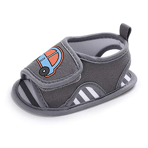 QINJLI baby sandalen, Summer 0-1 peuterschoenen klittenbandsluiting siliconenbodem antislip licht en ademend 11-13 cm 11 cm C
