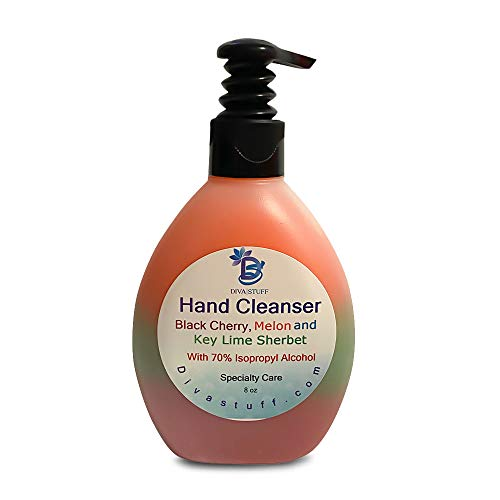 Waterless Hand Cleanser in 8 oz Bottle, Made in USA (Black...