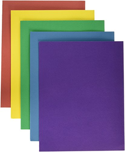 School Smart Extra Large 2-Pocket Folders, 9 x 12 Inches, Assorted Colors, Pack of 25
