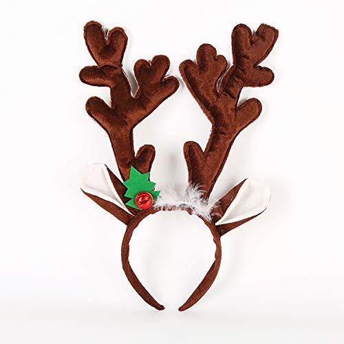 NYKKOLA Kerst Rendier Antlers Hoofdband Herten Haarband, Kerst Decoraties Ornamenten Cosplay Kostuum