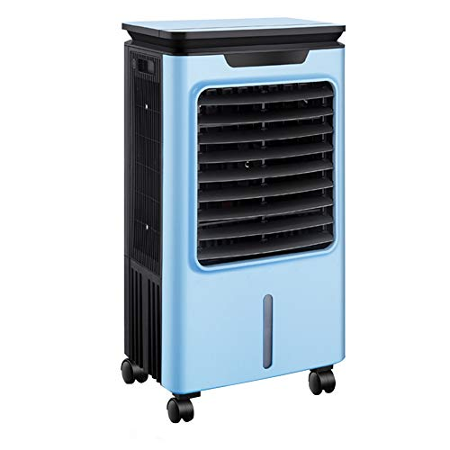 GGYMEI-air conditioner portable Lower The Temperature Indoor Small Mobile Cooling Fan Universal Roller Plastic Material, 2 Colors (Color : Blue, Size : 48.5x33x90cm)