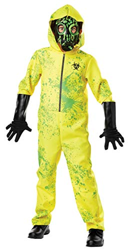Neusky Kinder Kostüm Perfektes Kostüm + Maske + die Handschuhe für Halloween, Weihnachten, Karneval oder Mottoparties (Kinder-Gelb-Grün, XL/145-160cm)