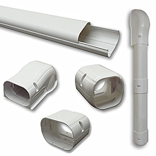 """7.5 Ft Line Set Cover Kit 3"""" for Mini Split and Central Air Conditioner & Heat Pump Line Set Cover Kit Decorative Tubing Cover Product ID: 758149825748"""