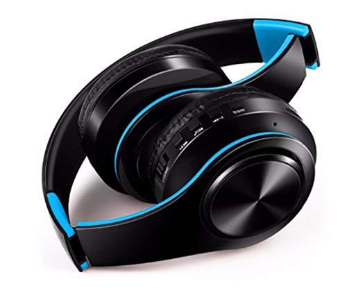 Auriculares inalámbricos Plegables para Motorola Moto G7 Power Smartphone Bluetooth Botones Ajustable Sonido Universal (Azul)