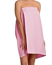 ? PREMIUM QUALITY WOMENS COTTON WAFFLE WRAP: Our waffle designed bath wrap towels provide you with a super comfy and absorbent body wrap for the bath. Super absorbent so perfect for after swimming. ? PERFECT FIT AND ADJUSTABLE FOR WOMEN: Adjustable c...