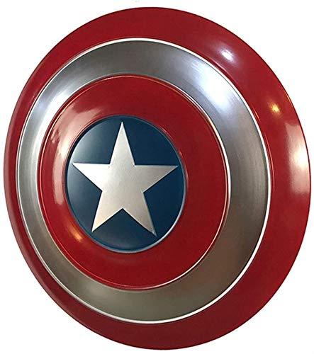JJMUD Vengadores Capitn Amrica Disfraz de Metal Escudo de Metal Noble Knight Shield Captain America Shield 1: 1 Apoyos de pelcula para Adultos y nios Toy Up Trajes Trajes 47 cm