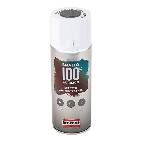 AREXONS SMALTO 100% ACRILICO ANTICHIZZANTE Smalto spray Grafite 400 ml vernice spray...