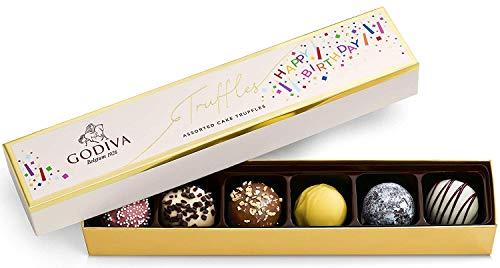 Godiva Chocolatier Birthday Truffles Assorted Chocolate Gift Box, 6 pc.