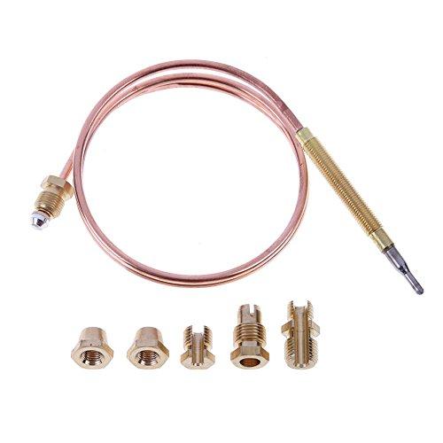 Asidue - Termopar de gas para calentador de agua caliente (60 cm, 5 piezas)