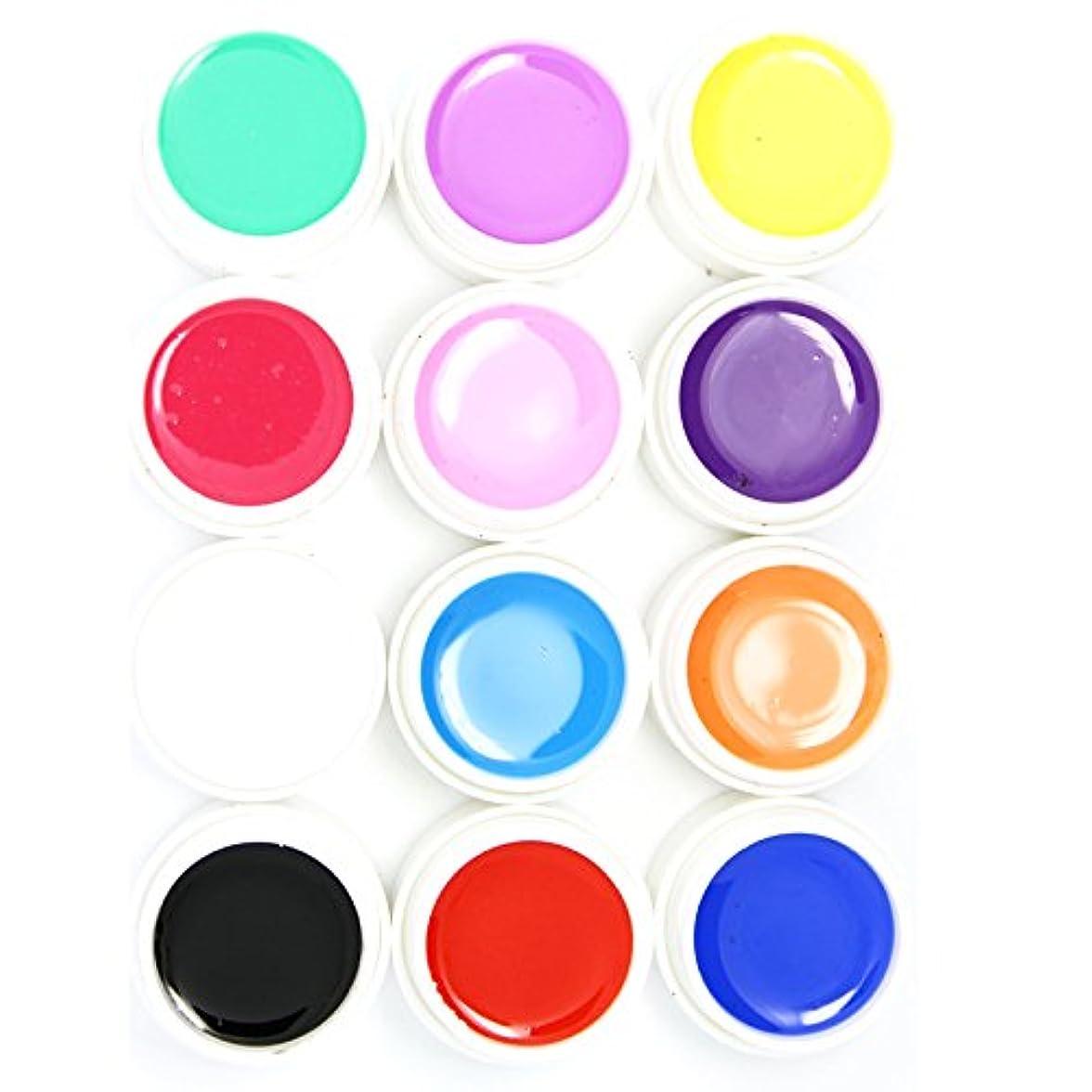 フラッシュのように素早くアルネ車両カラー ジェル UVジェル ネイルアート 発色綺麗 12色セット (1)