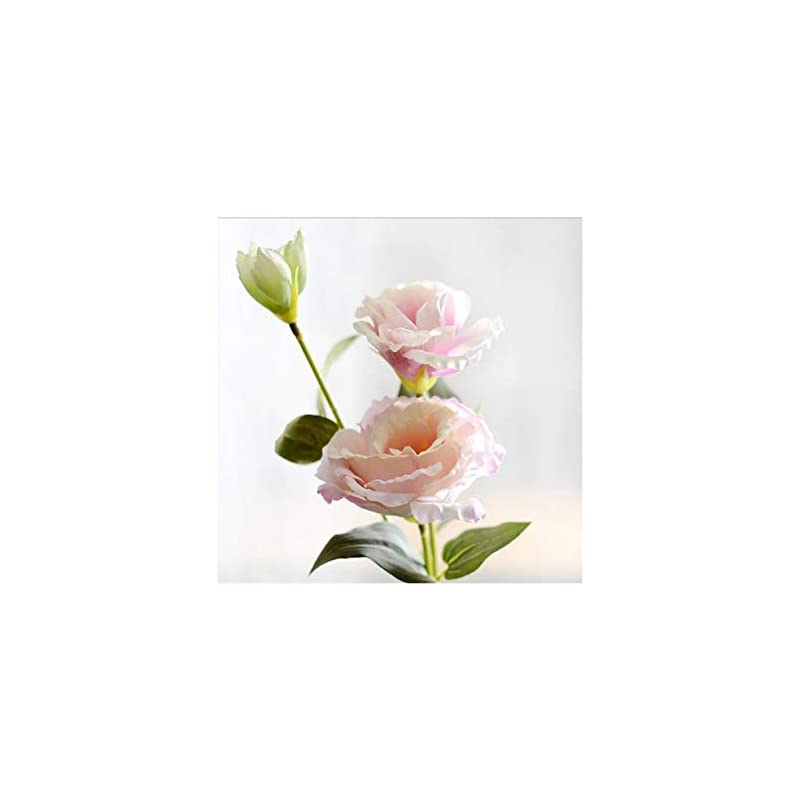silk flower arrangements 3 heads fake eustoma gradiflorus lisianthus artificial flowers wedding home decoration wreaths pink2