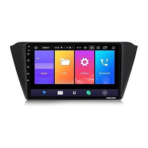 ADMLZQQ 9 Pulgadas Doble DIN Sat Nav Car Stereo Radio para Skoda Fabia 2015, Navegación GPS Android 10.0, Bluetooth/Mirrorlink/FM/RDS/DSP/Cámara Trasera / 4G + WiFi,7862 (8core 4+64g)