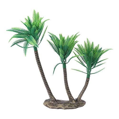 Toyvian Coconut Palm Tree Miniature Fake Artificial Plants Pots Bonsai Craft Mini Scenery Landscape DIY Doll House Decoration 3Pcs