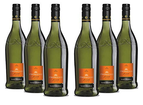 Sant'Orsola Prosecco DOC Frizzante Schaumwein NV trocken (6 x 750 ml)