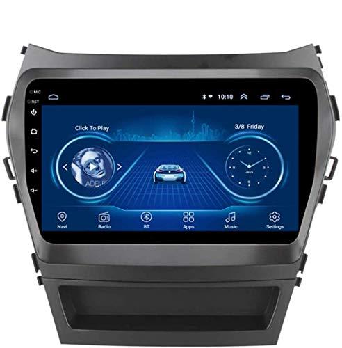 Android 8.1 Navegación Radio TV GPS pantalla táctil de 9 pulgadas para Hyundai IX45 Santa FE 2013 – 2017, con DAB + CD DVD compatible con control de volante Bluetooth USB, negro 4G + WiFi: 2 + 32G