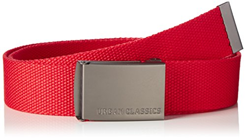 Urban Classics Canvas Belts Ceinture, Rouge (Red), Fabricant: Taille Unique Mixte