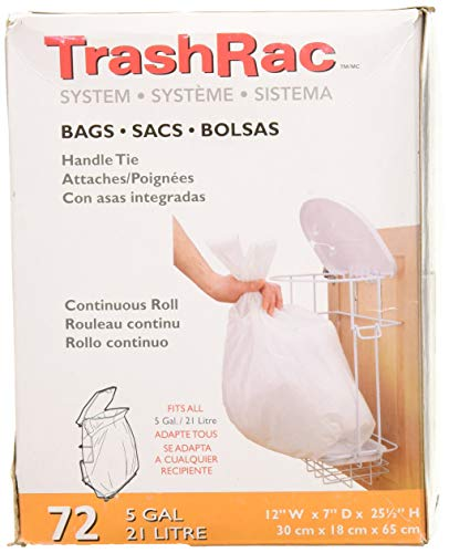 Trashrac Refill Bags 87072 for 5 Gallon Frame-72 Count