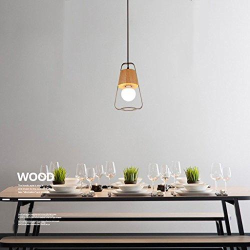 HTL Lámpara Colgante Creativa Simple Chandeliers de Madera Dormitorio Sala de Estar Restaurante Lámpara de Bar de Bar de Iluminación Interior
