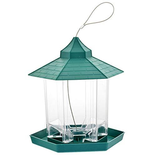 #N/A Kunststoff-Vogelfutterautomat Hängender Vogelfutterbehälter Vogelnuss-Futterautomat Haustierbedarf Gartendekoration im Freien