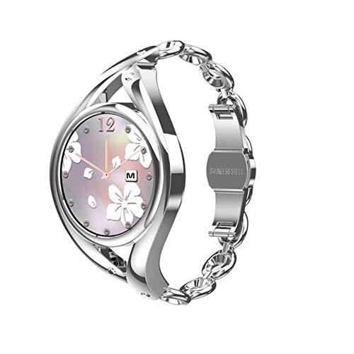 LEM1995 Smart Watch Mujeres Encantadora Pulsera Smartwatch Ultrafino para la niña Monitor de frecuencia cardíaca IP68 Reloj Impermeable,B