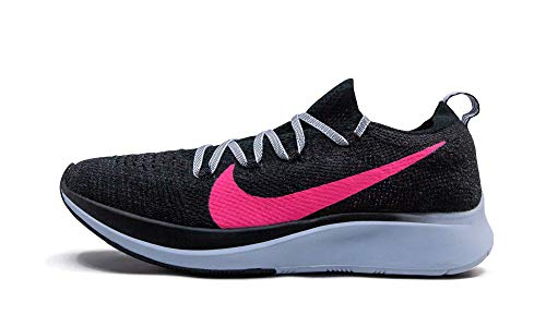Nike Womens WMNS Zoom Fly Flyknit Black/Hyper Pink-Blue Tint Ar4562 002 - Size 8.5W