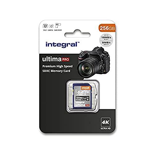 Integral Carte Mémoire 256Go SDXC Premium Haute Vitesse jusqu à 100MB s Classe 10 V30 UHS-I U3