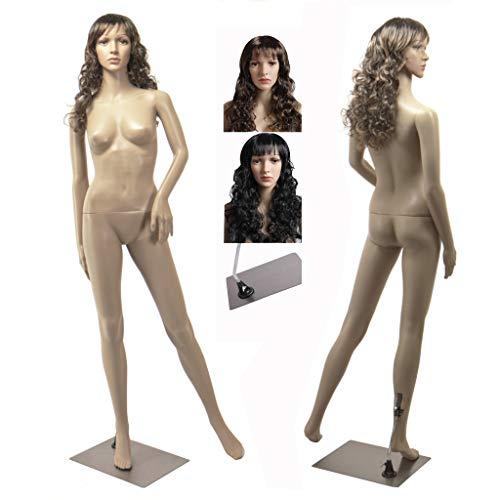 Eurotondisplay weibliche Schaufensterpuppe mit 2 Perücken gratis SF-4 beweglich Hautfarbe