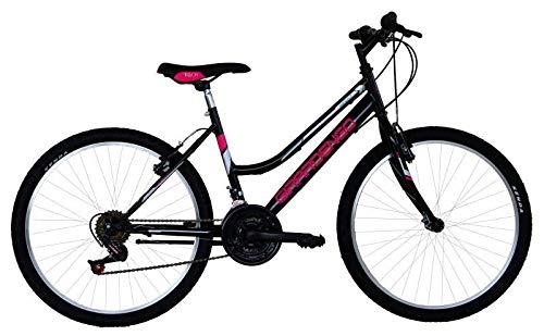 MASCIAGHI Bicicletta 24' MTB Donna GIRARDENGO 18 Velocita' • Nero/Fuxia