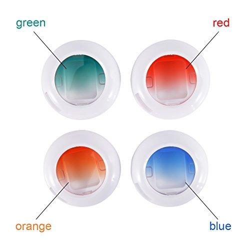 Woodmin Gradient Color Close Up Lens Filters for Fujifilm Instax Mini 8 8+ Mini 9 Mini 7S Mini KT and Polaroid PIC-300 Camera (Orange/Blue/Red/Green)