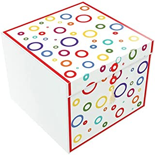 EndlessArtUS EZ Gift Box Rita Garnier 10x10 Decorative Gift Box with Lid Pops Up in Seconds Comes with Gift Tag and Tissue...