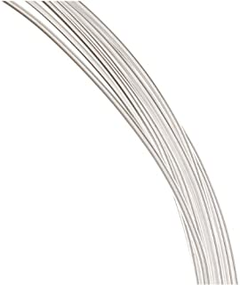 Beadalon 180S-218 18-Gauge Stainless Steel Square Bright Wire for Jewelry Making 1.75m