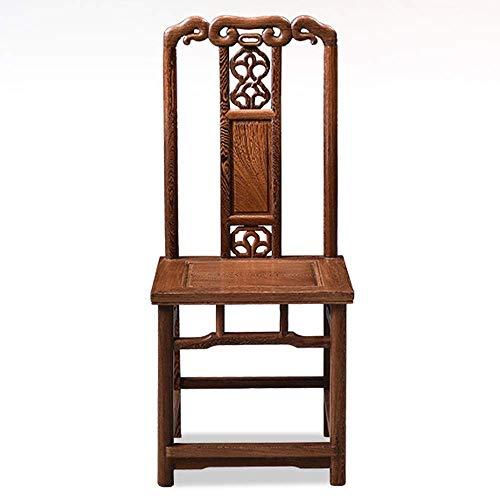 SPRINGHUA Sillas de comedor para cocina, simple silla tallada, silla de comedor, ocio, retro, resistente, fácil de limpiar, adecuado para el hogar, hotel (color: marrón, tamaño: 45 x 43 x 103 cm)