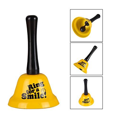 VABNEER Handglocke Glocke Klingel Hand Tischglocke Rezeptionsklingel Tischklingel Anrufsglocke (Gelb)