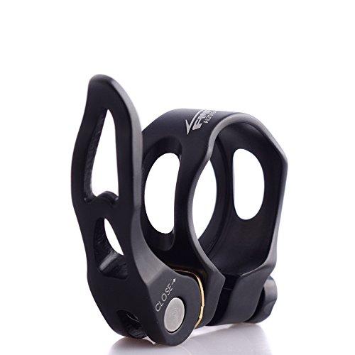 UPANBIKE Cerraduras de Asiento Abrazadera de tija de Bicicleta Hueca liberación rápida 31.8 mm 34.9 mm aleación de Aluminio Clip de Tubo(34.9mm,Negro)