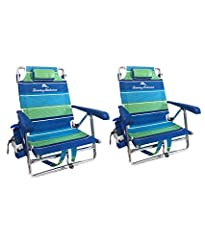 "The perfect choice for relaxation on your beach trip from The Gristmill Market and Tommy Bahama–the lifestyle brands you know and trust. These Chairs sit low to the ground. Chair measurements are Height 31.5"", Seat Width 20.5"", Seat depth 13"" , Seat ..."
