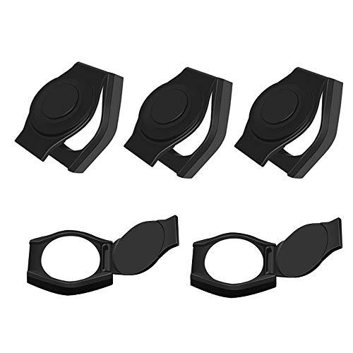 EasyULT 5 Paquete Funda Protectora para Cámara Web, Tapa Webcam Cubierta de Cámara Cover Ultra Delgado para Laptop, Mac, Ordenador, Protegiendo Seguridad de Privacidad (Negro)