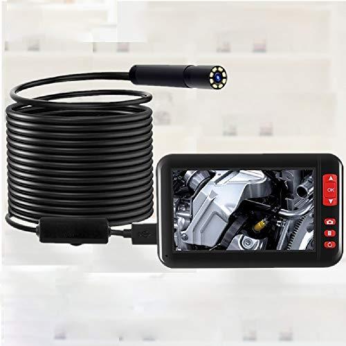 XBAO endoscoop, industriële endoscoop, 6/8 instelbare LED-lampen, voor industriële reparatie, HD 1080P, met 4,3 inch LCD-kleurendisplay met brandpuntsafstand 3-10 cm, waterdicht