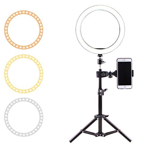Ring Light Hoop, USB Beauty Lamp met statief USB-plug voor cameratelefoon Video fotografie make-up,50CM