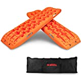 X-BULL New Recovery Traction Tracks Sand Mud Snow Track Tire Ladder 4WD (Orange- No Hardware)