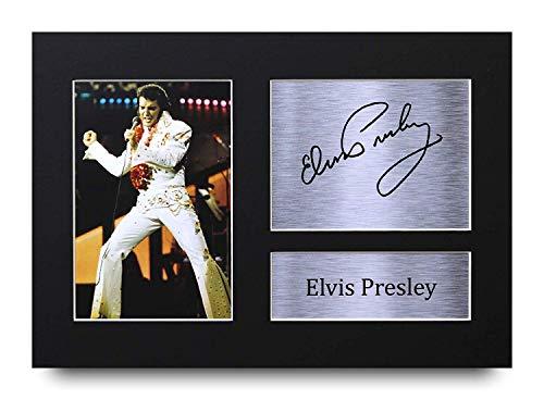 HWC Trading Elvis Presley firmada A4 autógrafo Impreso para Regalo de música Impresión Foto