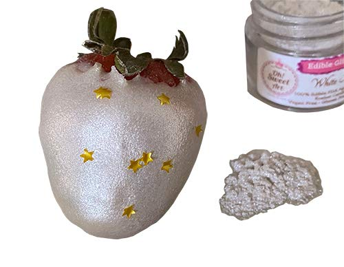 Edible Glint Dust White Super Pearl Luster Popular shop is the lowest price Max 58% OFF challenge